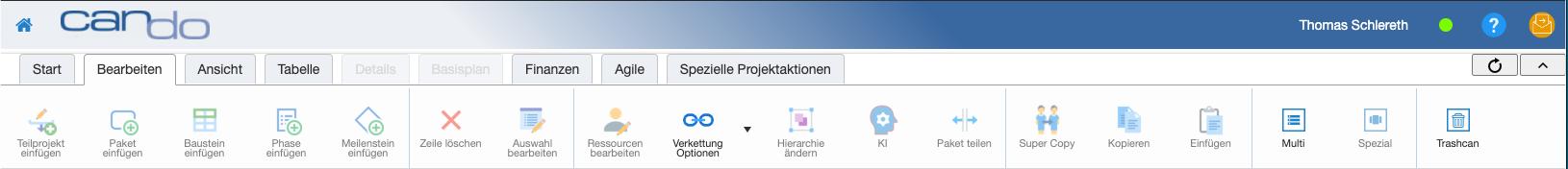 Navigation enthält alle Icons, Browser ist breit genug |  | Can Do Software
