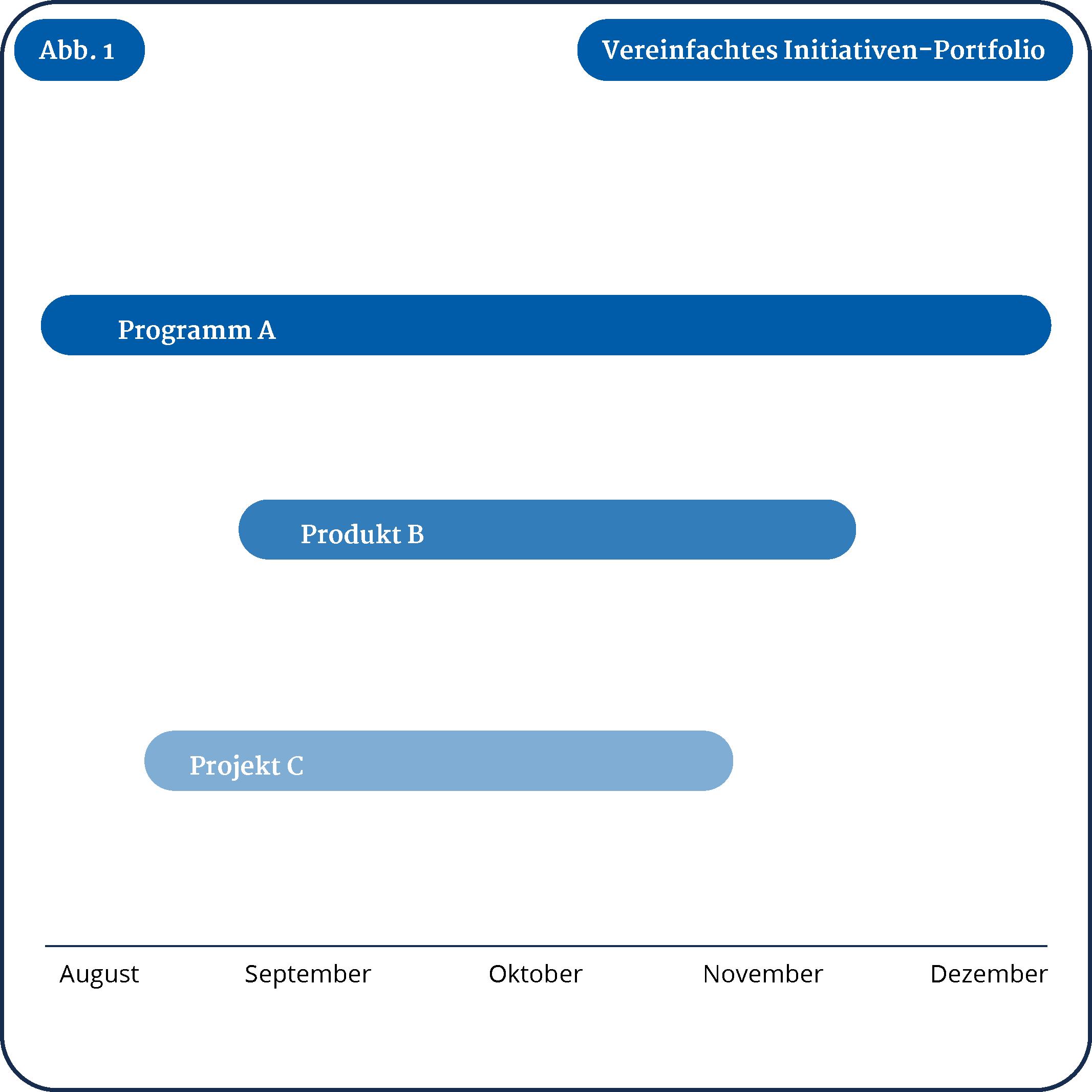 Vereinfachtes Initiativ-Portfolio