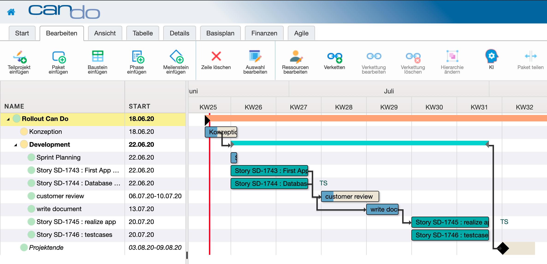 Projektmanagement: Gantt_hybrid