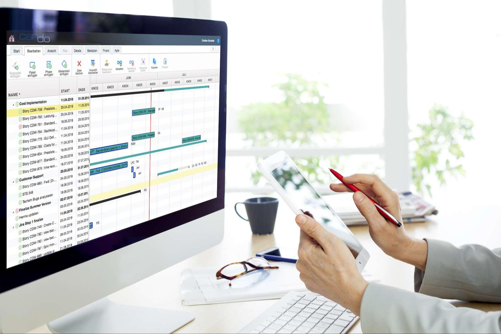 Gantt Chart der Projektmanagement Software Can Do