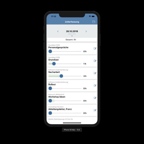 Die mobile App konfigurieren und verwenden